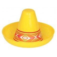 Plastic Mini Sombrero - 12.5cm * 6.25cm