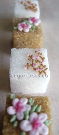 Highly recommend this company (Home Sweet Home). I've ordered their exquisitely crafted sugar cubes to the delight of all my afternoon tea guests who marvel at their delicacy. Cherry Blossom Sugar Cubes