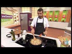 Piquillos rellenos de pollo y de queso - YouTube