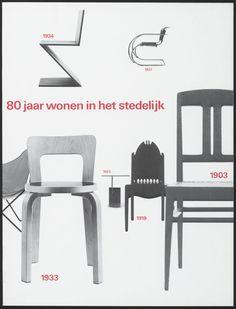 Total Design, Wim Crouwel, Arlette Brouwers / 80 jaar wonen in het Stedelijk Chaise Chair, Stage Design, Book Cover Design, Graphic Design Illustration, Editorial Design, Layout Design, Vintage Designs, Interior, Stedelijk