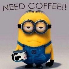 Yes minions need coffee too! #Minions #Coffee