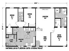 Small Double Wide Mobile Home Floor Plans ~ http://lovelybuilding.com/double-wide-mobile-home-floor-plans-with-affordable/