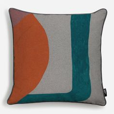 Your cushion is made to order and hand-finished. Your cover is printed on cotton canvas, with a handsome smoke grey back cover, smoke grey piping and. Cushion Fabric, Furniture Upholstery, Soft Furnishings, Cotton Canvas, Wall Murals, Cushions, Throw Pillows, Abstract, Prints