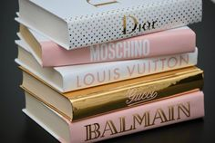 5 Books Blush Pink Gold & white designer inspired book | Etsy Pink And Gold, Blush Pink, Makeup Display, Decorating Coffee Tables, Book Cover Design, New Homes, Decorating Ideas, Design Inspiration, Table Decorations