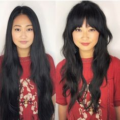 The best hair ever. What an honor to do a major cut on ❤️ She was my model for my Austin class at and I couldn't… Curly Hair With Bangs, Long Hair Cuts, Hairstyles With Bangs, Cool Hairstyles, Haircuts, Baddie Hairstyles, Ponytail Hairstyles, Vintage Hairstyles, Summer Hairstyles