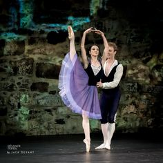 """Oksana Kucheruk (Ballet de l'Opéra National de Bordeaux) and Remi Wörtmeier (Het Nationale Ballet / The Dutch National Ballet), """"Le Halte de Cavalerie"""", Pas de Deux, Dance Open Ballet festival 2014 in Savonlinna, Finland (July 20, 2014), Photo © Jack Devant"""