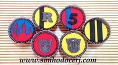 Cupcakes Transformers! curta nossa página no Facebook: www.facebook.com/sonhodocerj