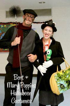 Bert & Mary Poppins Halloween Couples Costume Thrifty Halloween Costumes #halloween #costume #couplescostume
