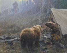 UNWELCOME RETURN    Not Just Wildlife Art of John & Suzie Seerey-Lester