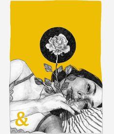 56 Ideas for pop art girl drawing illustration Art Inspo, Kunst Inspo, Inspiration Art, Art And Illustration, Portrait Illustration, Portraits Illustrés, L'art Du Portrait, Art Sketches, Art Drawings