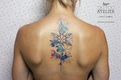 Schneekristall - Aquarell Tattoo
