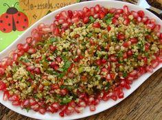Narlı Bulgurlu Tabule Salatası Resimli Tarifi - Yemek Tarifleri