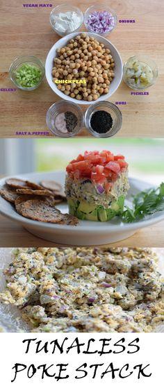Tunaless Poke Stack - Vegan and Gluten Free