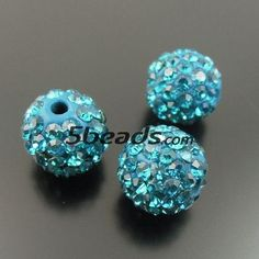 4PCS Polymer Clay Rhinestone Crystal Pave Bling Bead (Hole:1.5mm) 10*10*10MM_Other_Beads_Wholesale Beads Jewelry Making Supplies