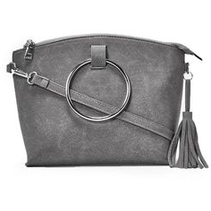 Nasty Gal Circle Handle Mini Tote (150 BRL) ❤ liked on Polyvore featuring bags, handbags, tote bags, circle purse, mini purse, shoulder strap purses, tote purses and zip tote bag