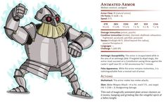 D&D Basic Monsters: Animated Armor