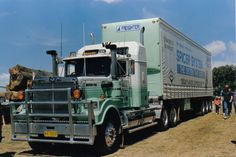 Back in Time we Go to the Start of the with a Marchetti's Thanks Breaker Big Western Star at Trucks In Action Lardner Park Semi Trucks, Big Trucks, Old Bangers, Western Star Trucks, Secret Squirrel, White Truck, Rigs, 1990s, Trailers