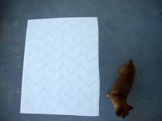 EASY way to do a chevron pattern