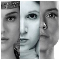 The girls of Star Wars, Padme, Leia and Rey. Edit made by me~E.