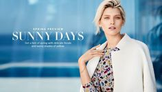 H&M Spring 2015 Trend Update Lookbook featuring Hana Jirickova