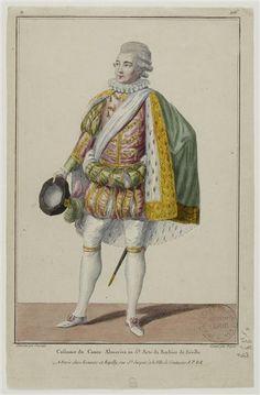 Le barbier de Séville ou La précaution inutile, comédie de Beaumarchais : portrait de Bellecour (Almaviva)