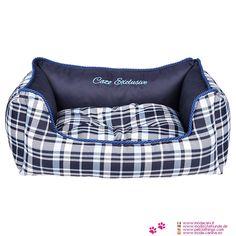 Cama Desenfundable para Perros estampada Escocés Azul - Nueva colección de camas desenfundables para perro pequeño y mediano: estas camas para perros combinan la funcionalidad, la estética y la calidad