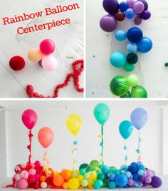 Extraordinary design balloon centerpiece rainbow baby showers time helium tank collage centerpieces ideas for tables diy no Birthday Centerpieces, Balloon Centerpieces, Balloon Decorations, Birthday Party Decorations, Crayon Birthday Parties, Rainbow Birthday Party, Birthday Balloons, Its A Boy Balloons, Rainbow Balloons