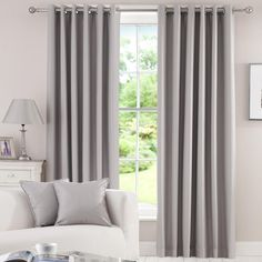 Waters and Noble Grey Herringbone Blackout Curtain Collection | Dunelm