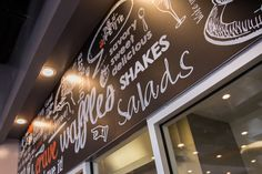 Crave Waffle Sandwich Creations word wall #art #creative #waffles #yum