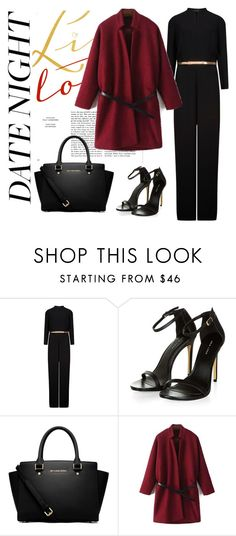 """""""Date Night"""" by tiffanybora ❤ liked on Polyvore featuring moda, Ted Baker e MICHAEL Michael Kors"""
