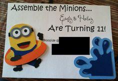 Personalized Minion Birthday Party Invitations... So Cute!