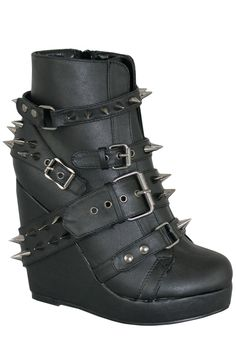 Abbey Dawn - Studded Wedge Bootie. £99.99