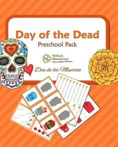 Day of the Dead Dia de los Muertos preschool printable pack