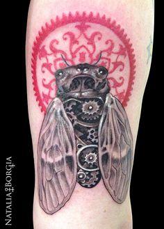 Cicada tattoo.