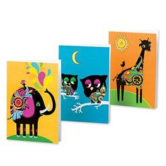 Greeting cards, 'Colorful Friends' (set of 12). Shop from #UNICEFMarket and help save the lives of children around the world.