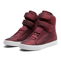 SUPRA SOCIETY | BURGUNDY-WHITE | Official SUPRA Footwear Site high top sneakers