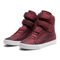 SUPRA SOCIETY | BURGUNDY-WHITE | Official SUPRA Footwear Site high top sneakers