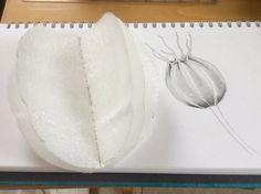 I've been experimenting with the book resist method today, using Merino wool tops to wet felt a seed pod. Needle Felted, Wet Felting, Textile Sculpture, Felting Tutorials, Seed Pods, Wedding Humor, Shibori, Wool Felt, Fiber Art