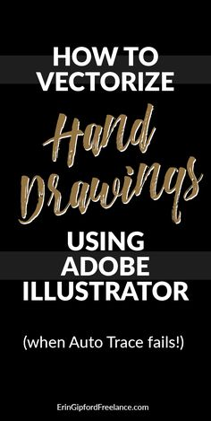 Adobe Illustrator Tutorial- Adobe Illustrator Video Tutorial: Sometimes the auto trace (image trace) tool just doesn& cut it. There is an easier way to vectorize your drawings! Graphisches Design, Graphic Design Tools, Design Logo, Graphic Design Tutorials, Graphic Design Inspiration, Tool Design, Typography Design, 2017 Design, Vector Design