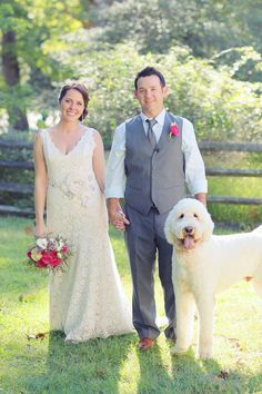A gorgeous little family | @VanessaJoy RobAdams. #wedding #pets