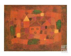 Paesaggio al Tramonto, c.1923 Art Print by Paul Klee at Art.com