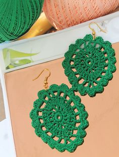 Madam B.C.: Virkatut lehtikorvikset (+OHJE). Crochet Earrings, Jewelry, Fashion, Moda, Jewlery, Jewerly, Fashion Styles, Schmuck, Jewels