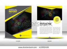 Blue cover annual report brochure flyer template creative design yellow cover design annual report template business brochure flyer infographics elements layout spiritdancerdesigns Image collections
