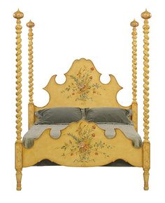 Patina Italia Bernini Bed Handmade Bedroom Furniture, Country Cottage Bedroom, French Home Decor, Wood Beds, Cozy Bedroom, Bed Frame, Painted Furniture, Toddler Bed, Portfolio Ideas