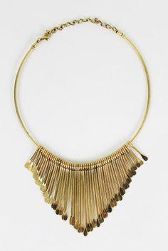 Matchstick Fringe Collar $30