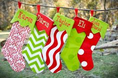 Personalized Christmas Stocking by ZaneyJanes on Etsy
