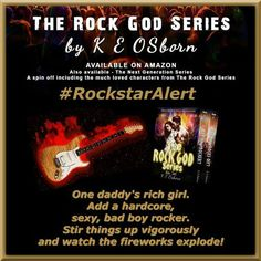 ►►►♪ #RockstarAlert ♫ #FreeKU ♪◄◄◄ The Rock God Series Box Set by K.E. Osborn  ►Amazon: http://geni.us/5bd  ►►► BLURB◄◄◄ One daddy's rich girl. Add a hardcore, sexy, bad boy rocker. Stir things up vigorously and watch the fireworks explode! My name is Delia (Lia) Norman. I'm your typical daddy's rich girl. But I'm sick of living my boring, mundane, day to day life. So when my boyfriend of four years broke up with me on Valentine's Day, I needed an out. My name is Colter (Colt) Slade. I'm…