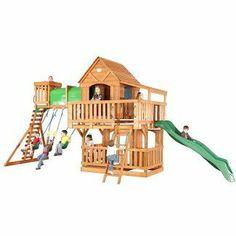 Woodridge Swing Set by Backyard Discovery - Outdoor Ideas!