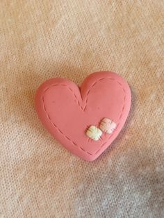Polymer clay Valentine's day heart pins