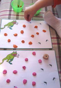 frog activity kit for kids Frog Activities, Motor Activities, Toddler Activities, Fun Games For Kids, Kits For Kids, Crafts For Kids, Preschool Learning, Kindergarten Activities, Frogs Preschool